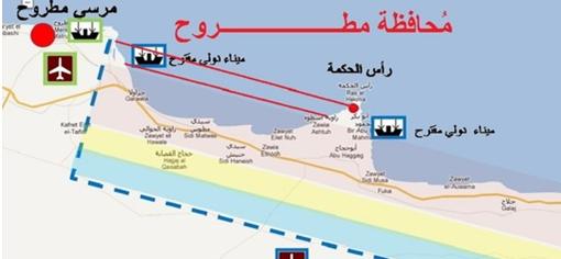 خريطة خليج راس الحكمة الساحل الشمالى